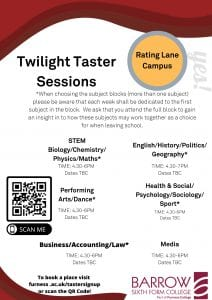 Twilight Taster Sessions