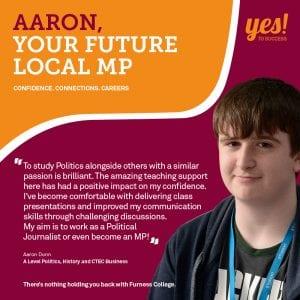 Aaron Dunn future Local MP case study