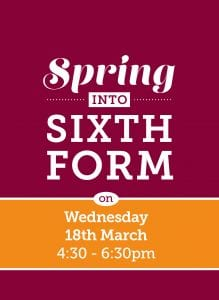 Spring into Sixth Form