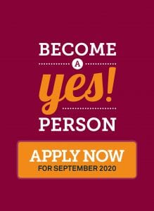 Become a yes person, apply now
