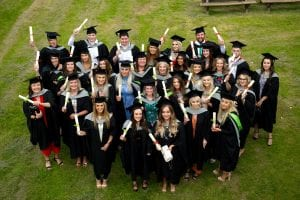 Group shot of Furness College students graduating