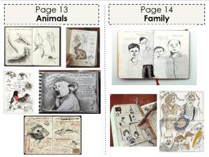 Art Classwork (Animals and Family)