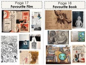 Art Classwork (Favourite Film and Favourite Book)