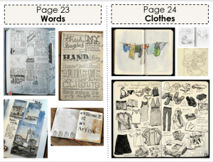 Art Classwork (Words and Clothes)