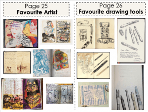 Art Classwork (Favourite Artist and Favourite drawing tools)