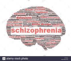 Psychology - Schizophrenia Diagram