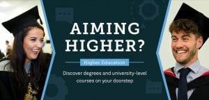 Higher Education Aiming Higher Artwork