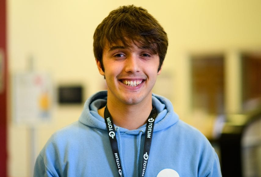 Liam Edgley of Furness College Students' Union