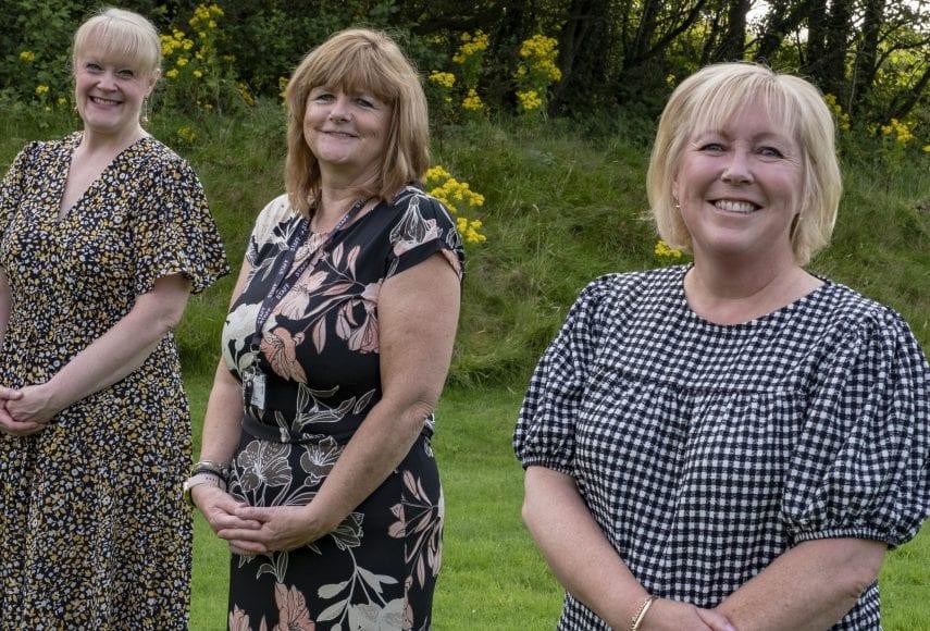 Sue Hannan, Zee Walker and Helen Gibson