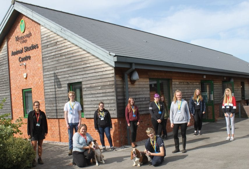 Level 3 Animal Management students at Myerscough College