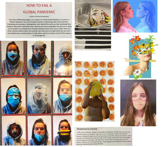 Combined artwork from A Level students