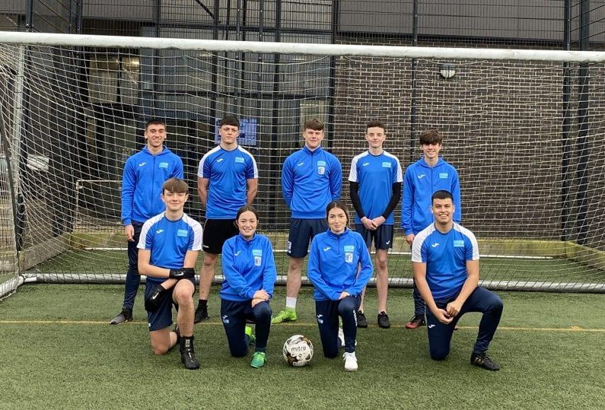 Group photo of Barrow AFC academy students