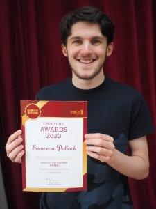 Prizewinner Cameron Pollock