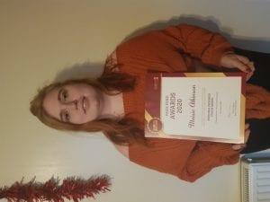 Prizewinner Maisie Atkinson