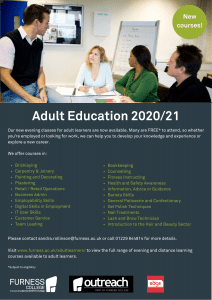 Adult Education courses on offer