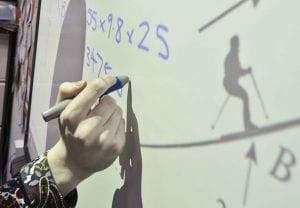 Hand writing on Maths board
