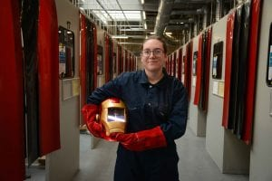 Tyeisha Stamp studies a Level 2 Diploma in Fabrication and Welding at Furness College