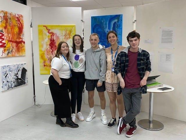Foundation Art students